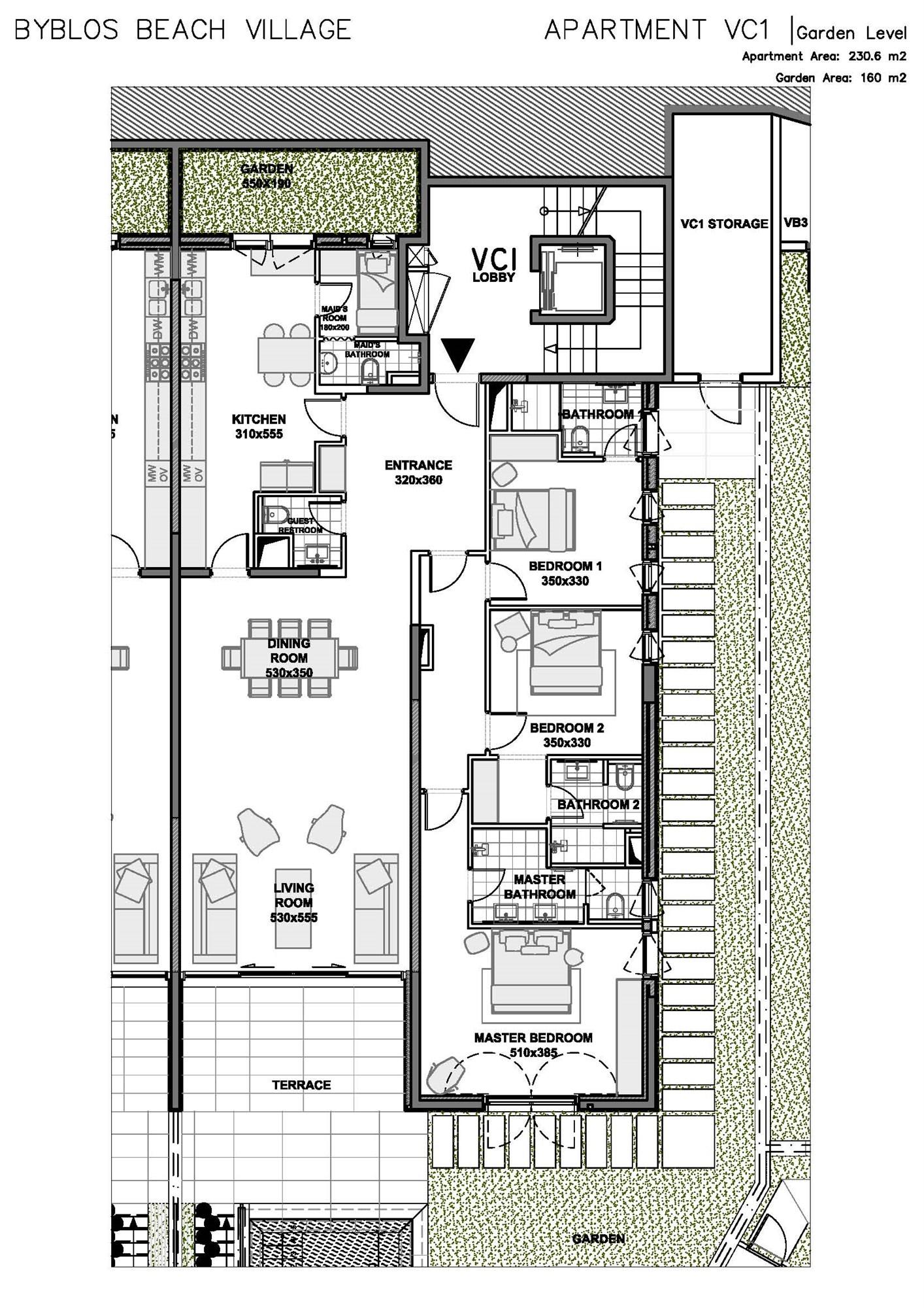 Byblos Beach Village Master Plan The Simplex Garden Floor Vc1 Schematic